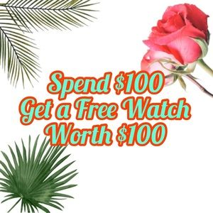 FREE Men's or Women's Watch with $100 purchase